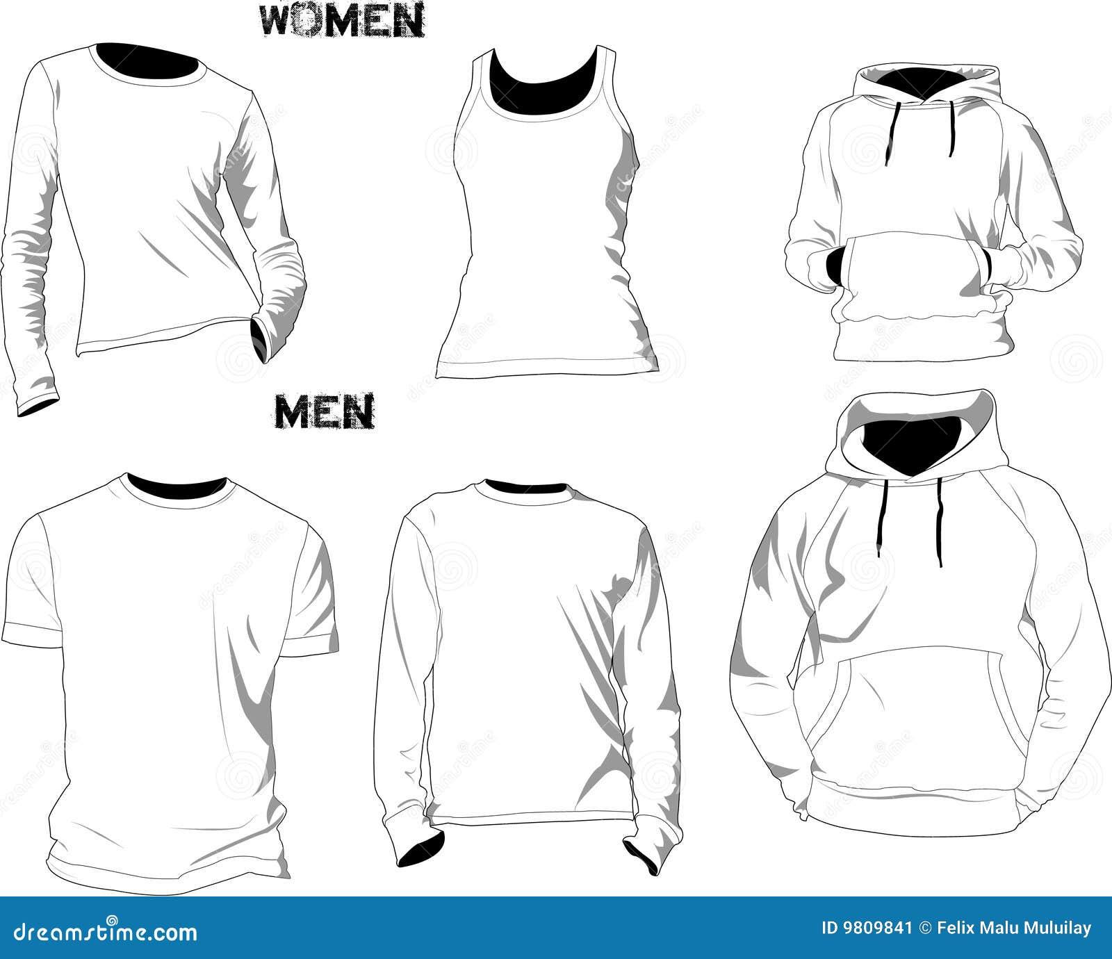 Moldes do t-shirt