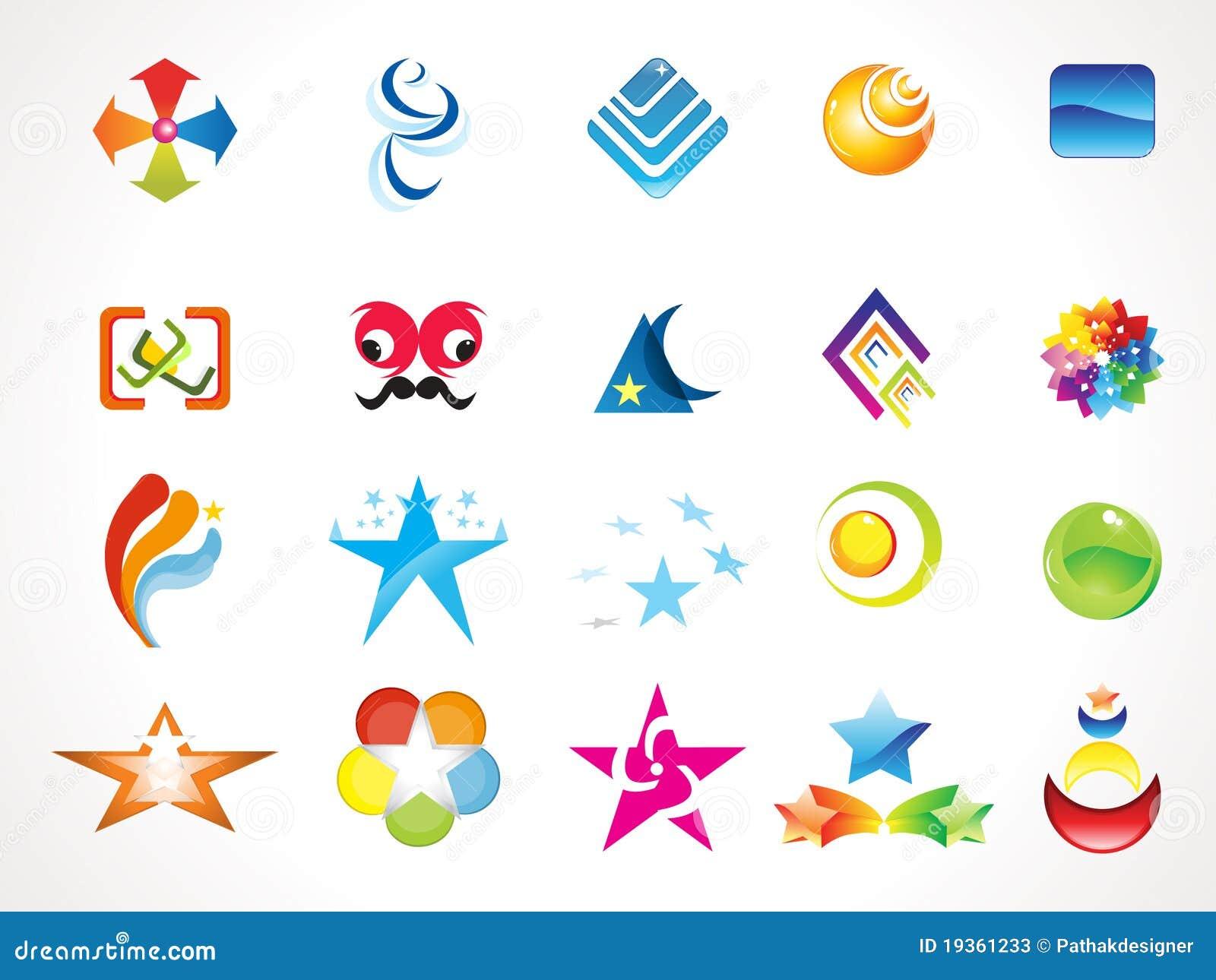 Moldes múltiplos abstratos do logotipo