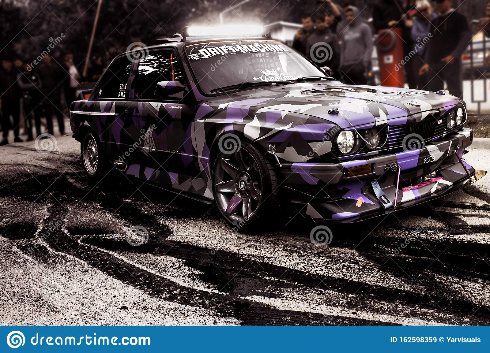 Moldova 25 09 2019 Sport Modern Stance E30 Bmw Car Racing Car Drifting With Smoke Drift Burnout Big Clouds With Editorial Stock Image Image Of Motion Black 162598359