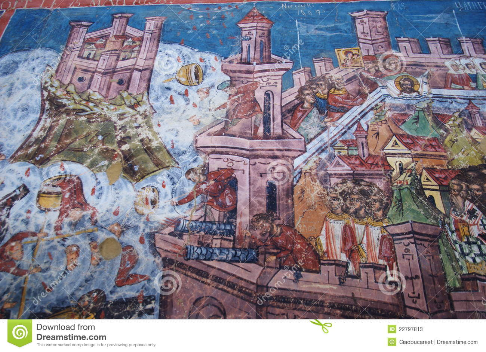 Moldovita, πολιορκία της νωπογραφίας Κωνσταντινούπολης