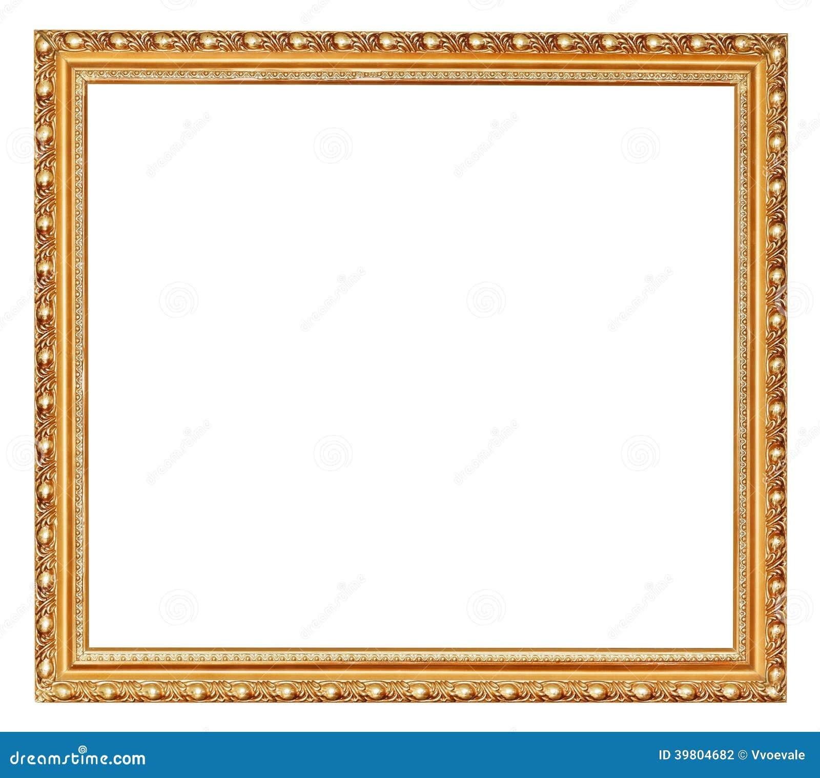 Moldura para retrato de madeira antiga dourada foto de - Molduras de escayola en madrid ...