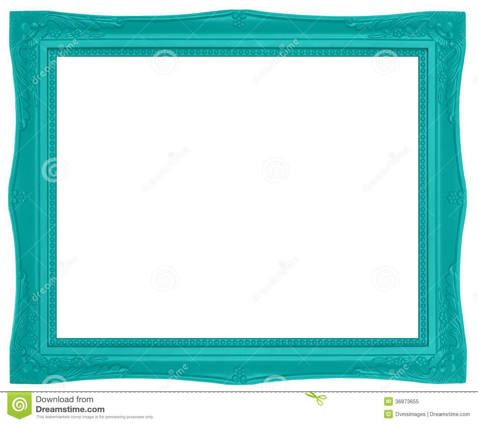 Moldura para retrato verde colorida foto de stock royalty - Molduras modernas ...