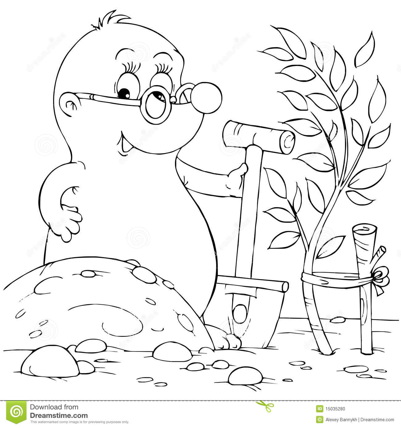naked mole rat coloring pages - photo#16