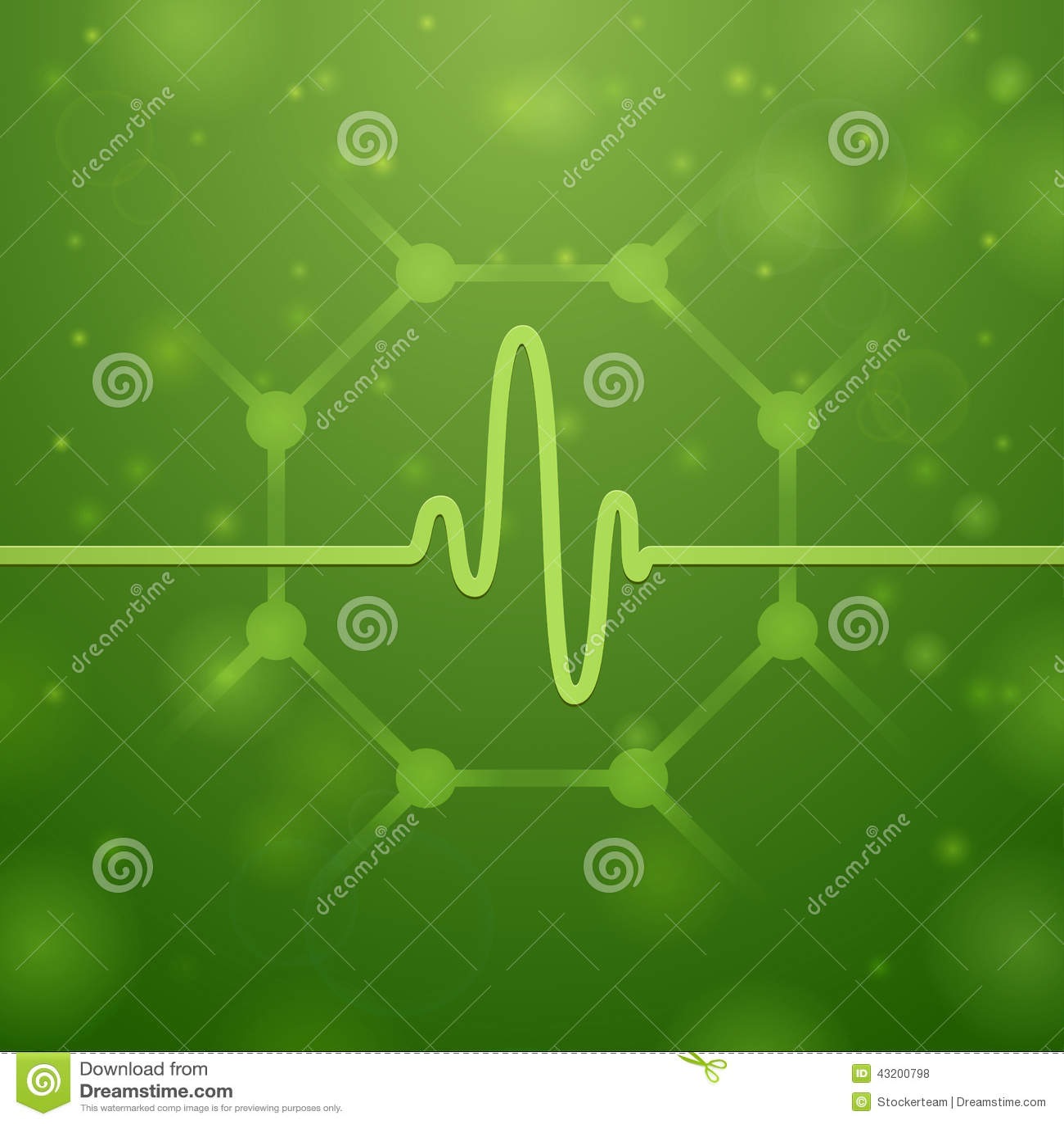Molecola e cardiogramma