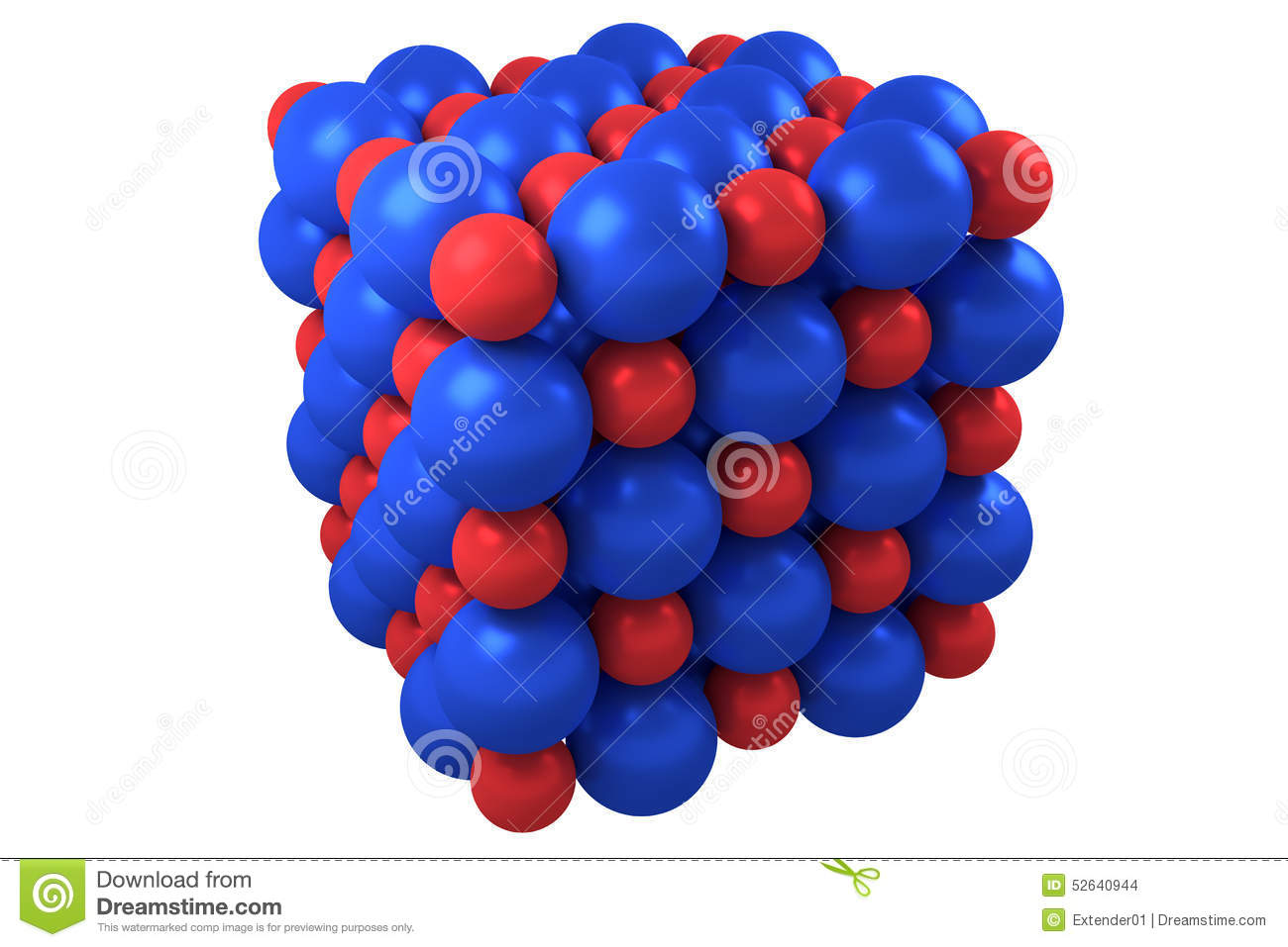 Molecule Cubic Crystal Structure Stock Illustration ...