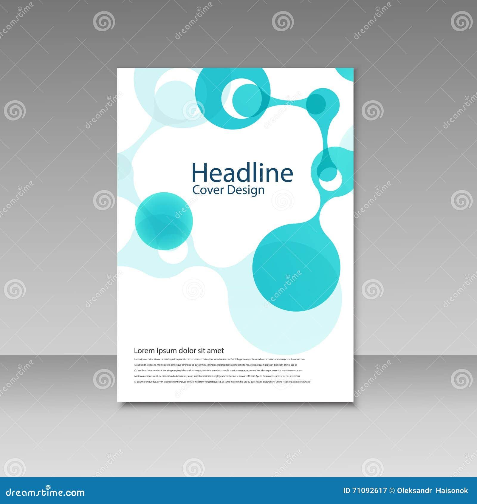 molecule design brochure template science vector background genetic life