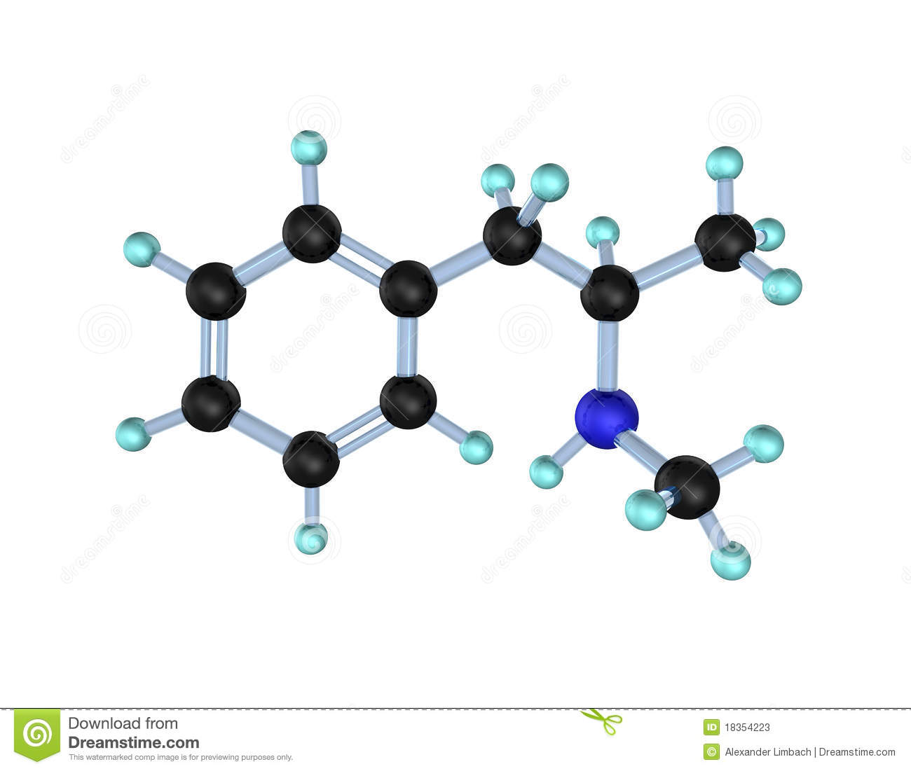 Methamphetamine molecule