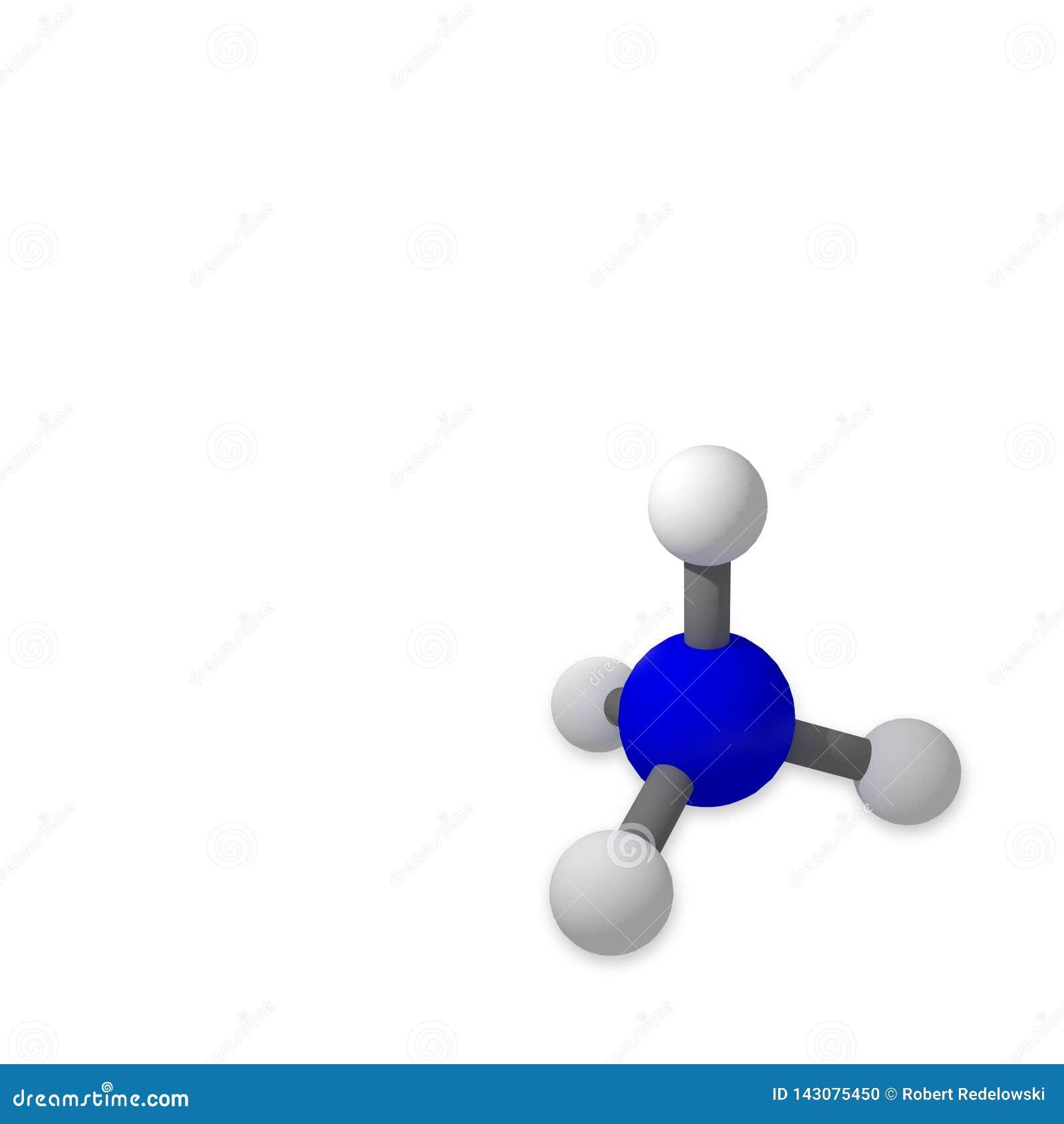 Moleculemodel op een witte achtergrond