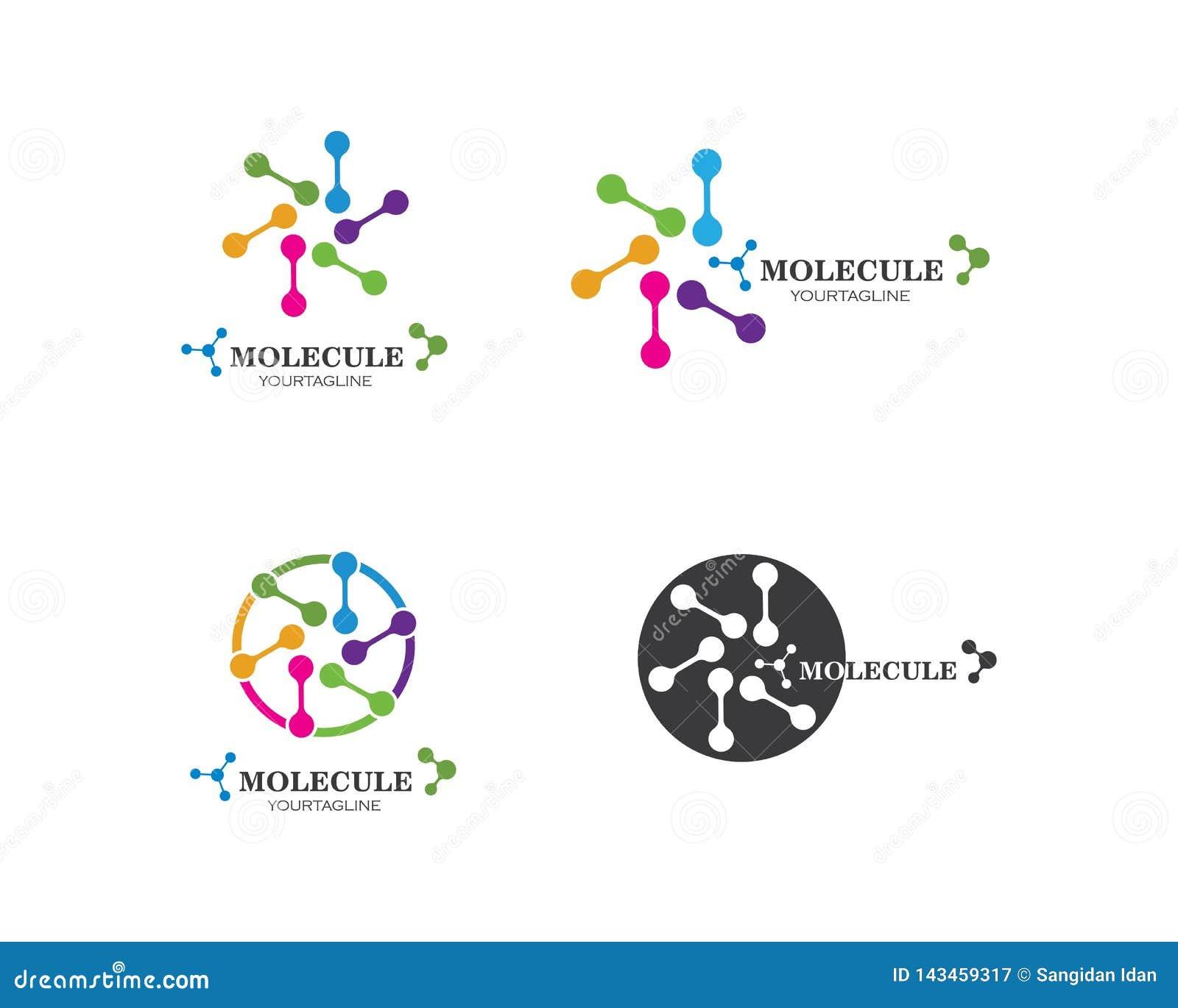 Moleküllogovektor-Illustrationsentwurf