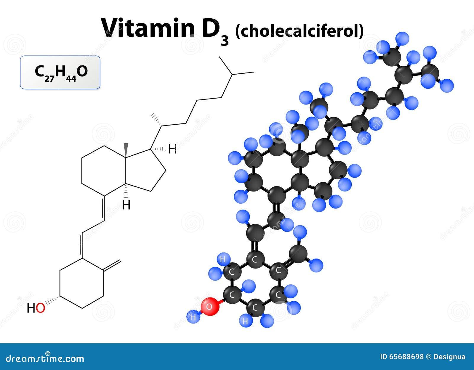 Molekyl Cholecalciferol eller vitamin D3