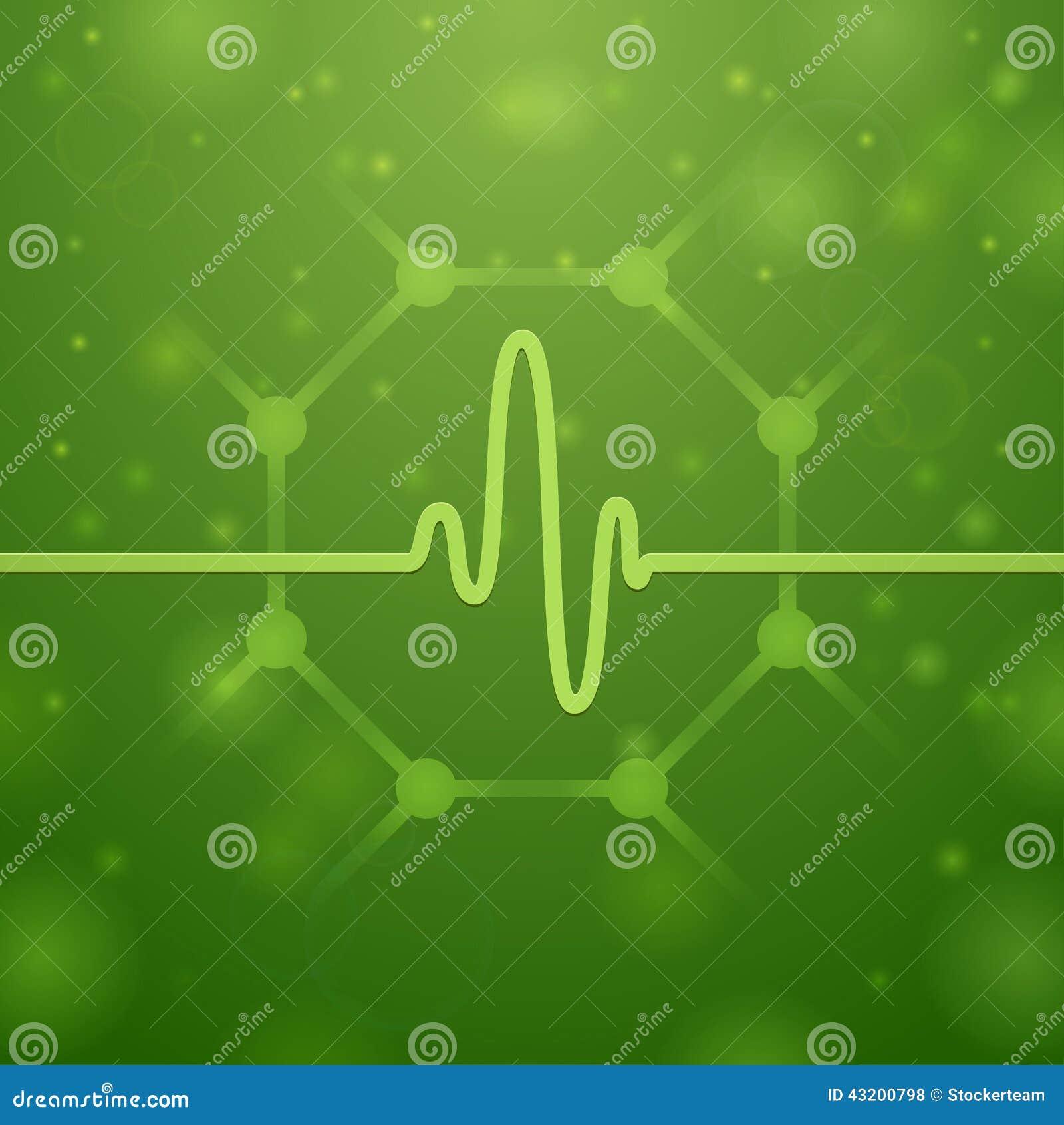 Download Molekyl och kardiogram stock illustrationer. Illustration av design - 43200798