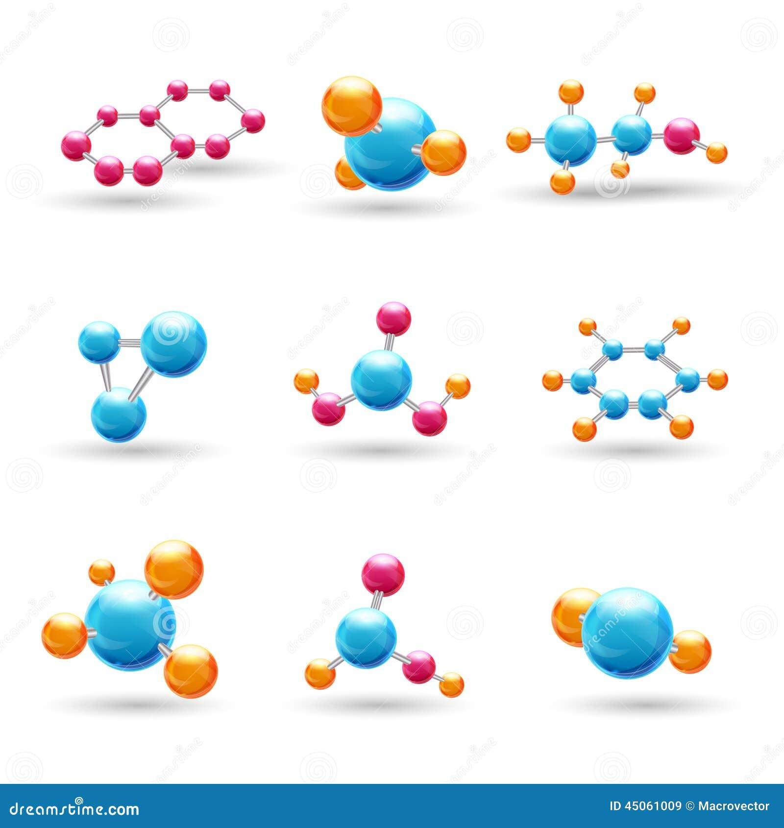 Molekylar för kemikalie 3d