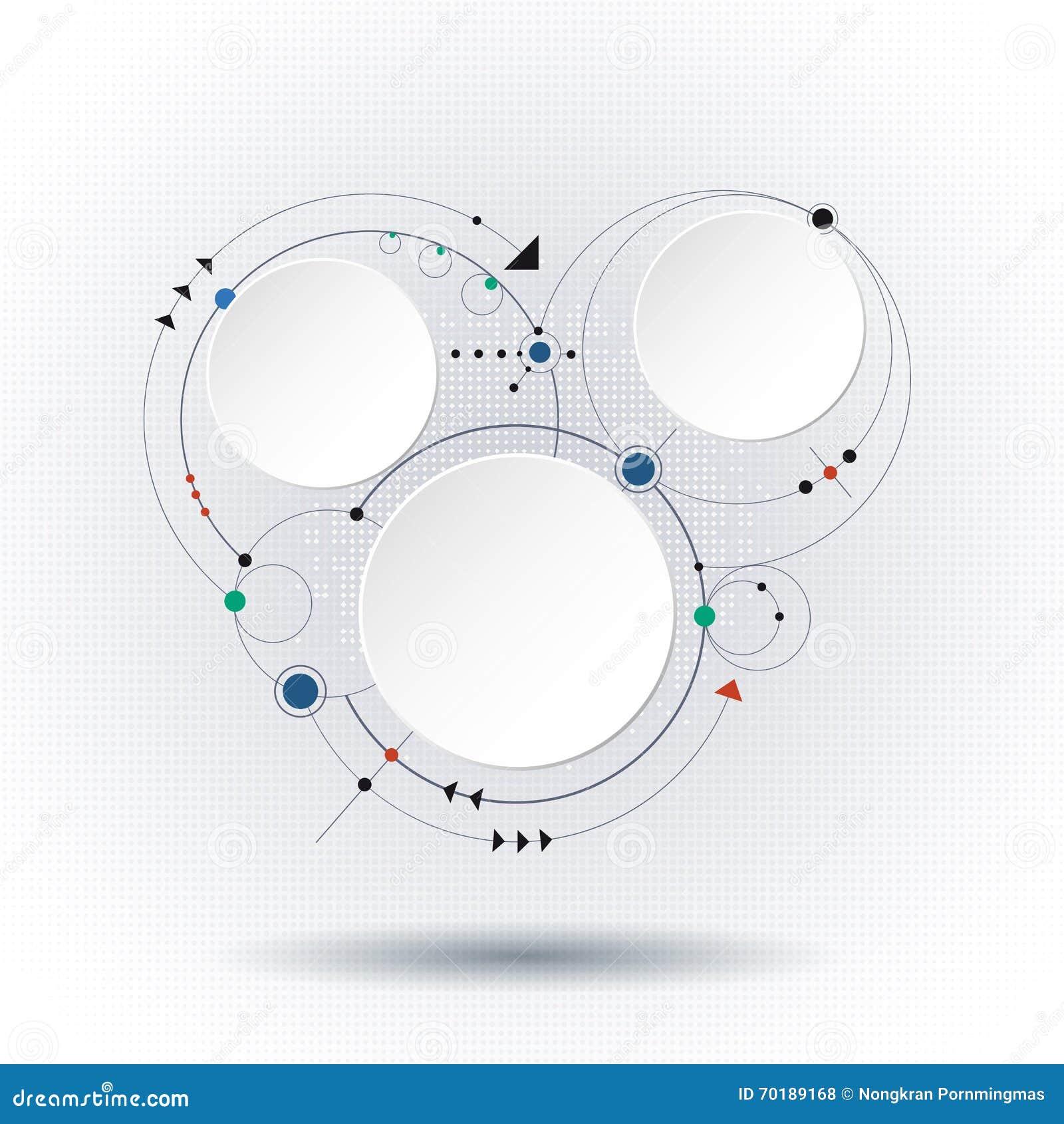 Molekylar för vektorillustrationabstrakt begrepp med etiketten för papper 3D
