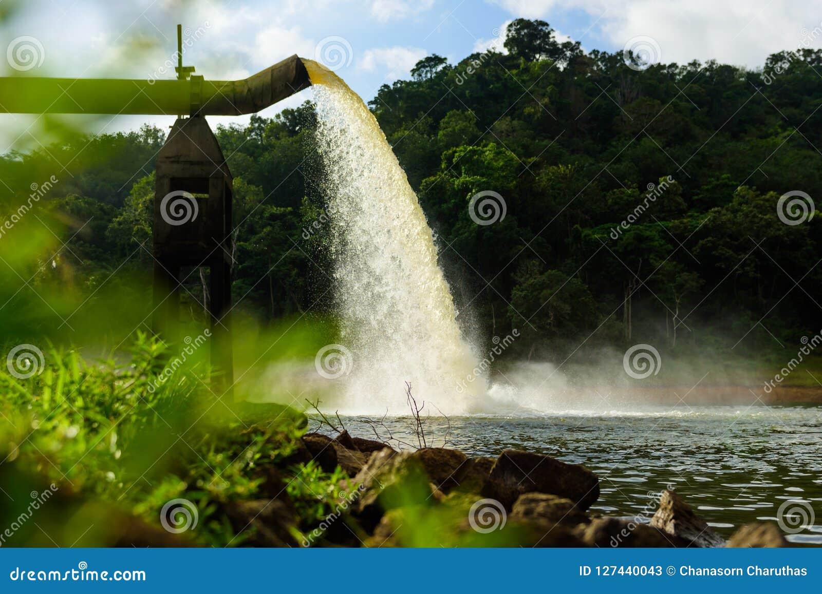 Molhe do dreno na produção de água