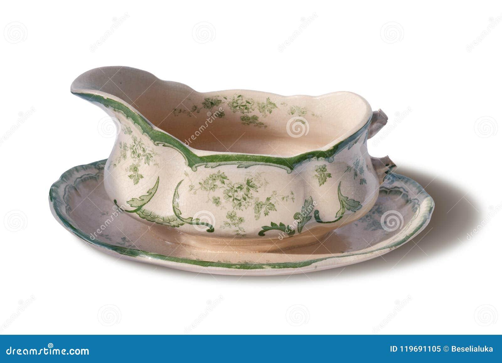 Molho-barco da porcelana do vintage