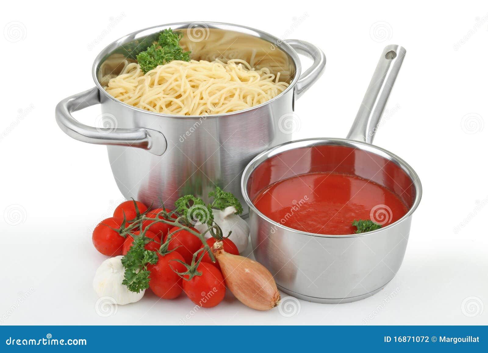 Molho do espaguete e de tomate