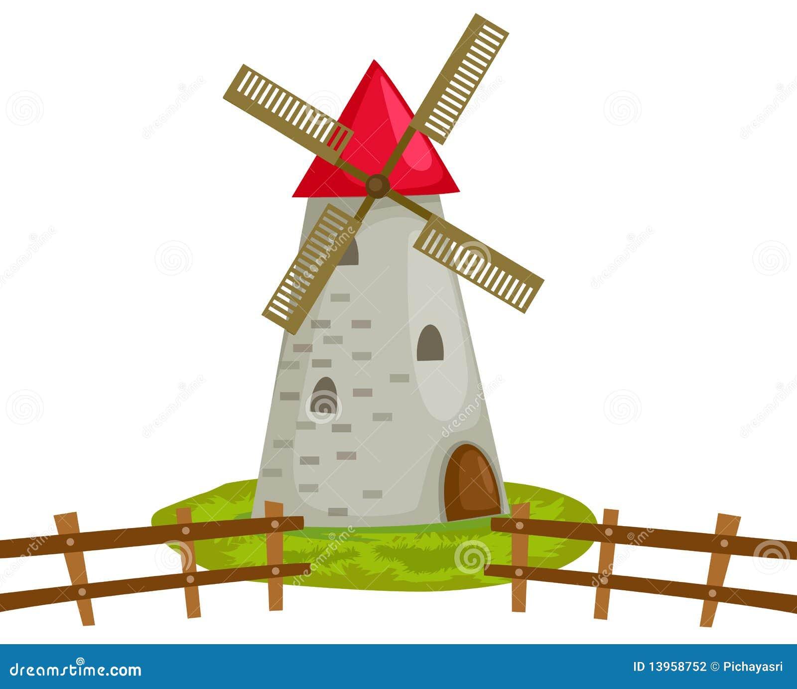 Molino de viento ilustraci n del vector imagen de arte for Piscina molino de viento y sombrilla
