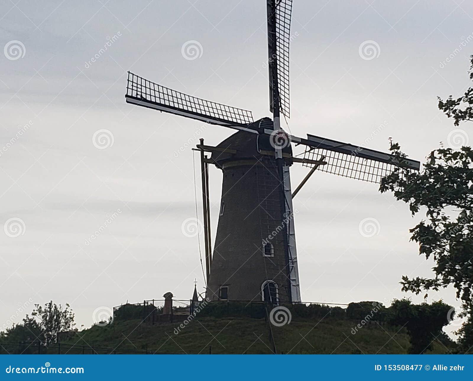 Molino de viento en Amsterdam