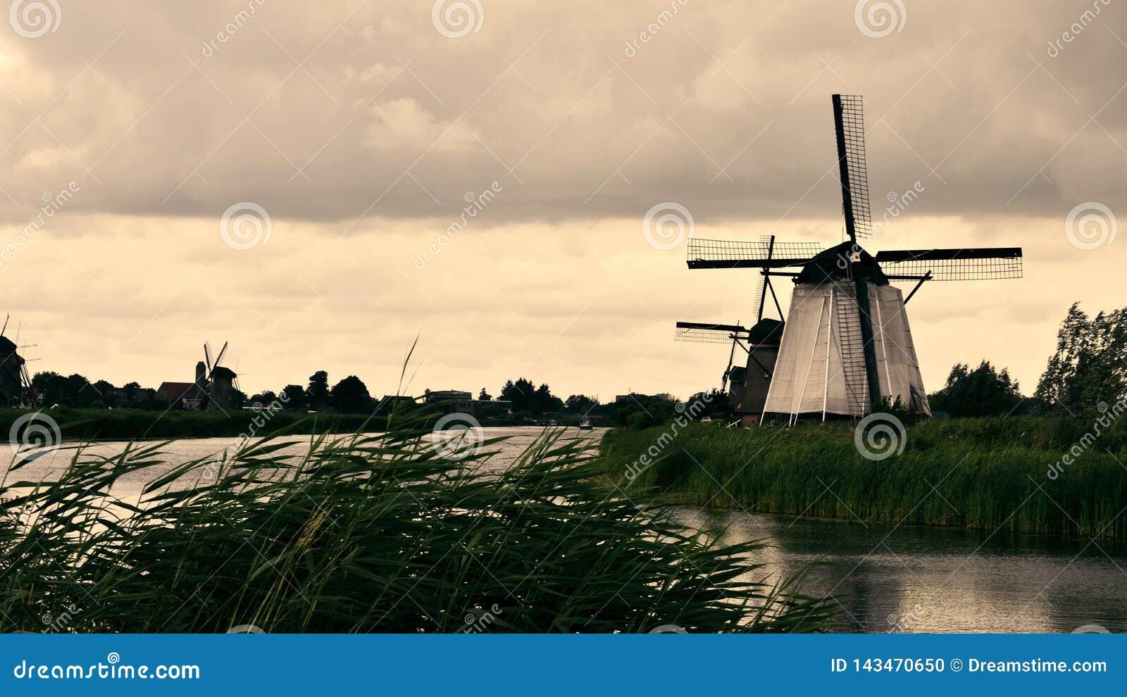 Molino de viento en Kinderdijk