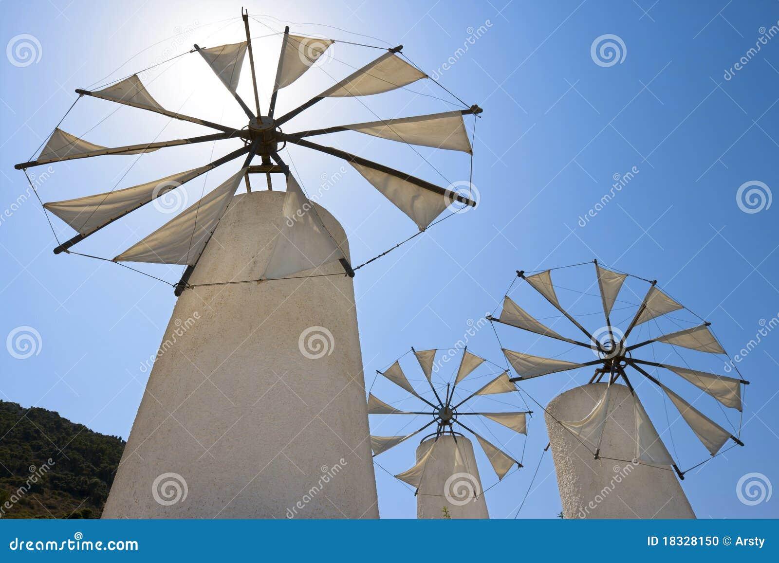 Molinoes de viento. Crete