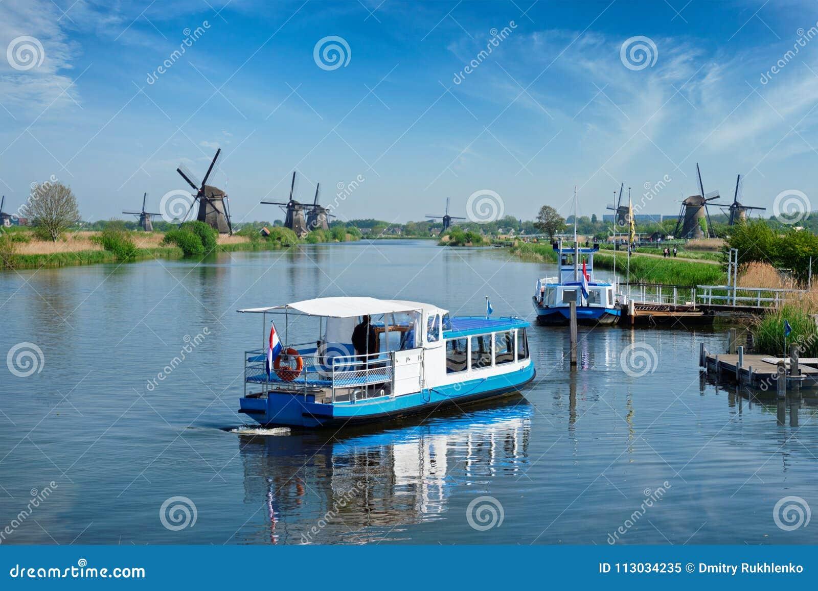Molinoes de viento en Kinderdijk en Holanda netherlands