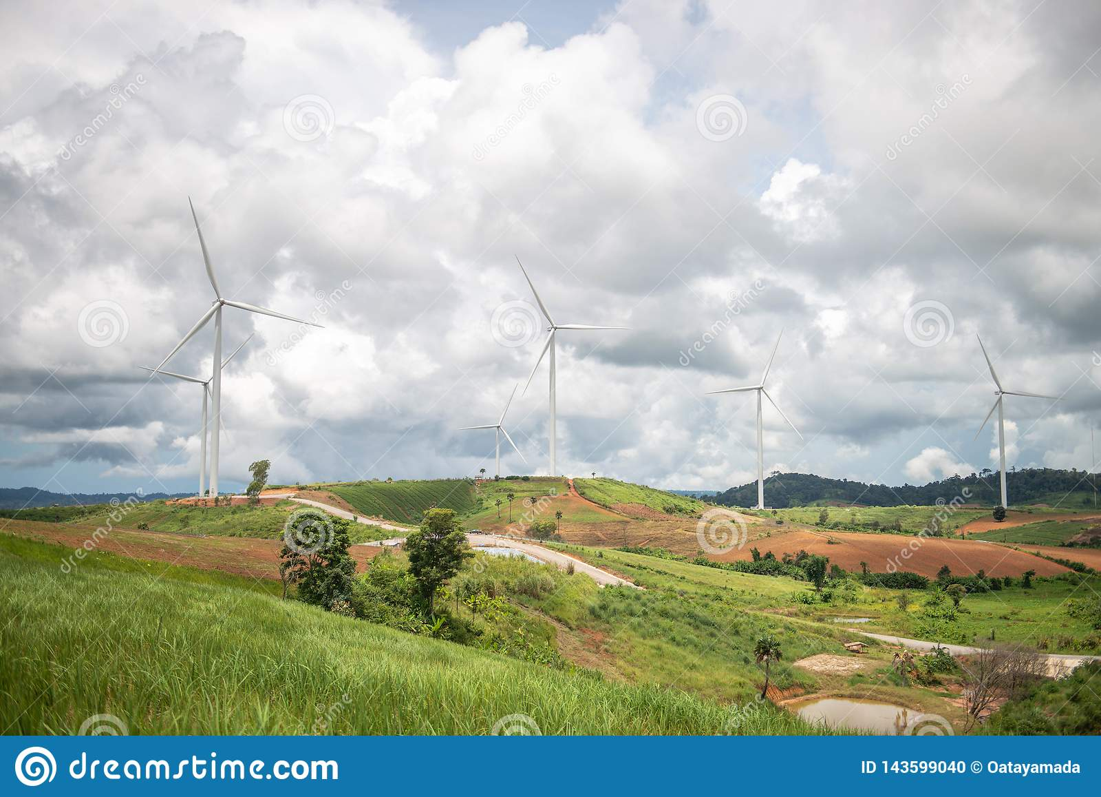 Molinoes de viento para la producción de Electric Power