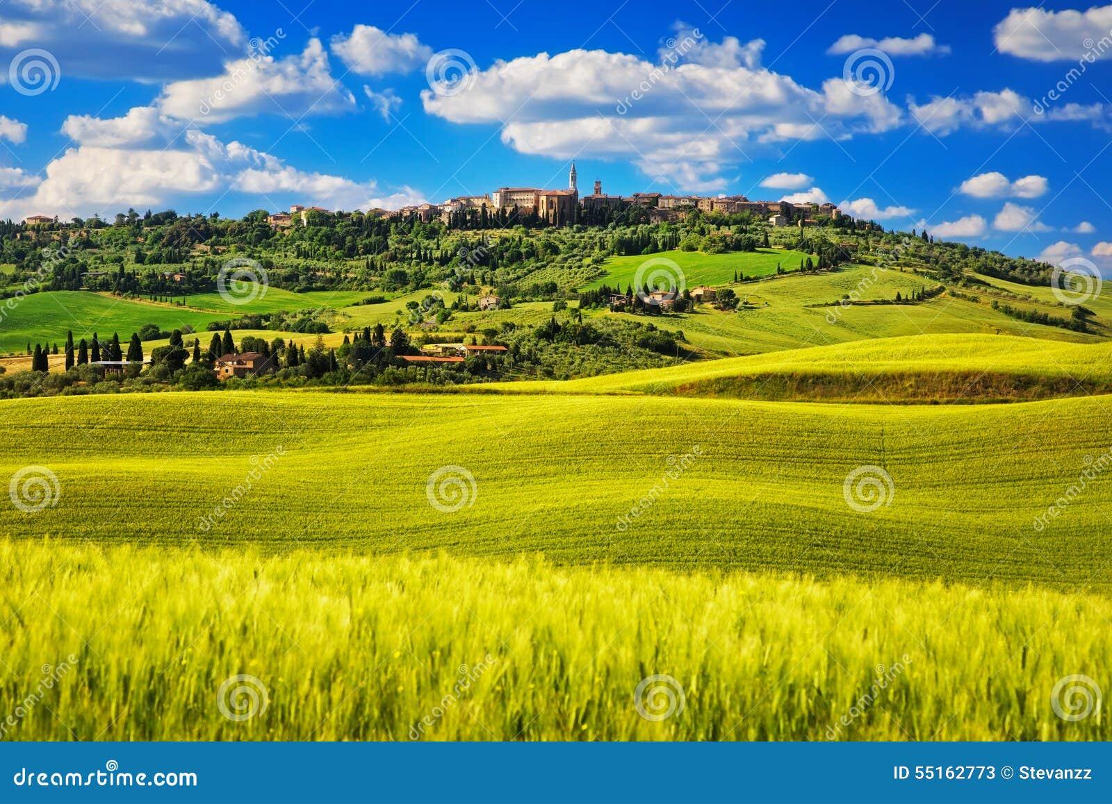 Molla della Toscana, villaggio medievale di Pienza Siena, Italia