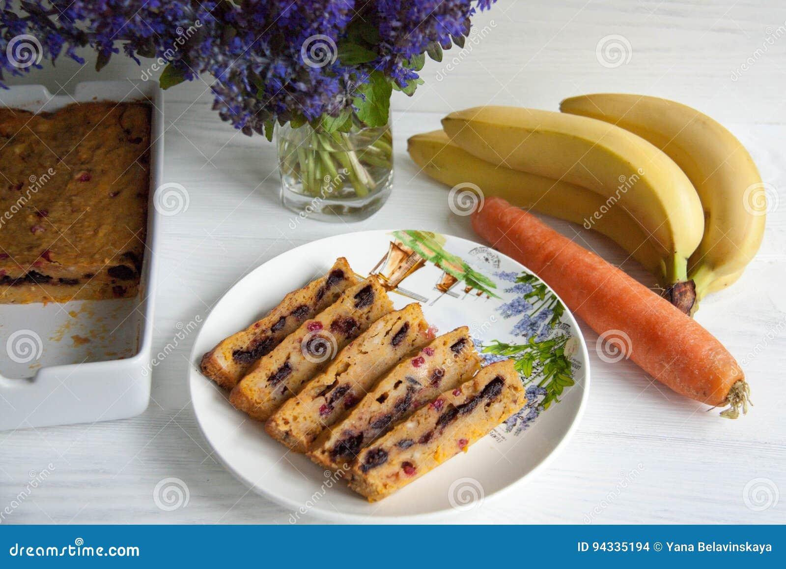 Mollete del plátano y de la zanahoria
