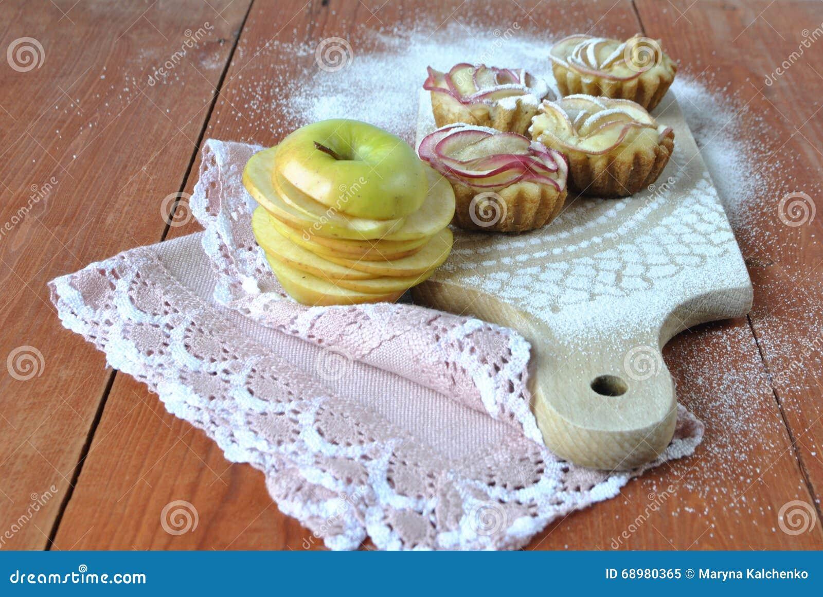 Molletes con las manzanas