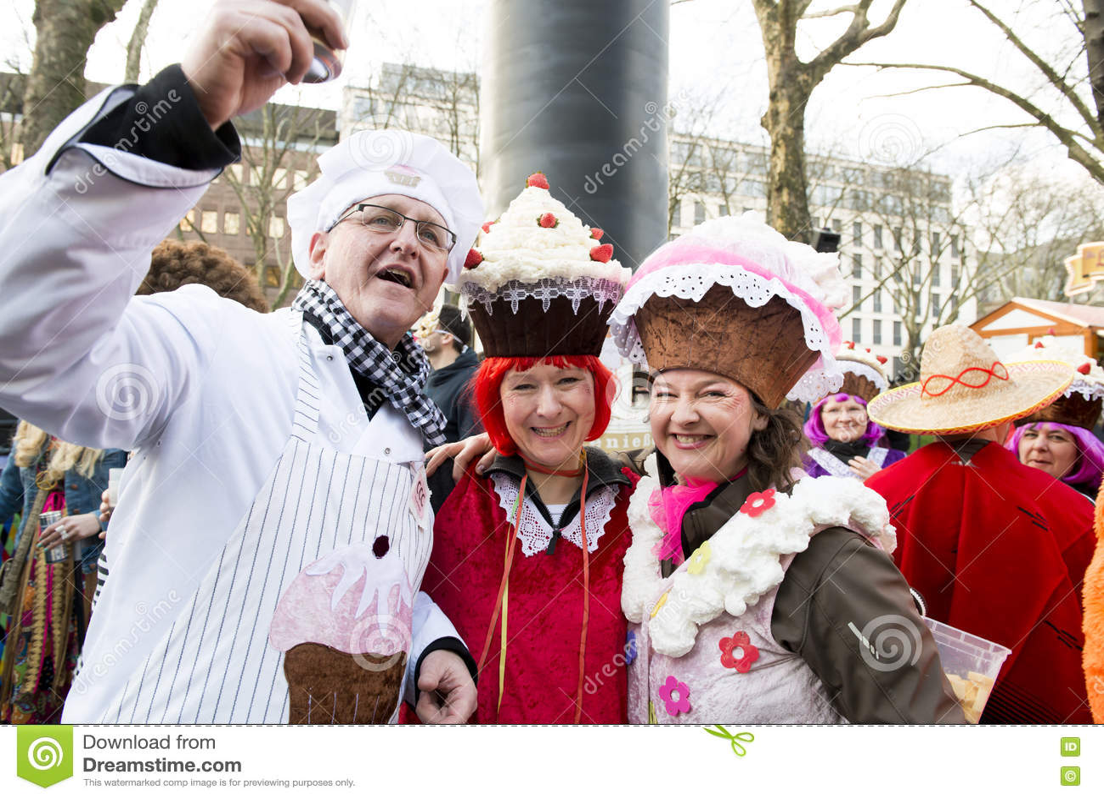 Molletes vestidos, Mardi Gras Dusseldorf