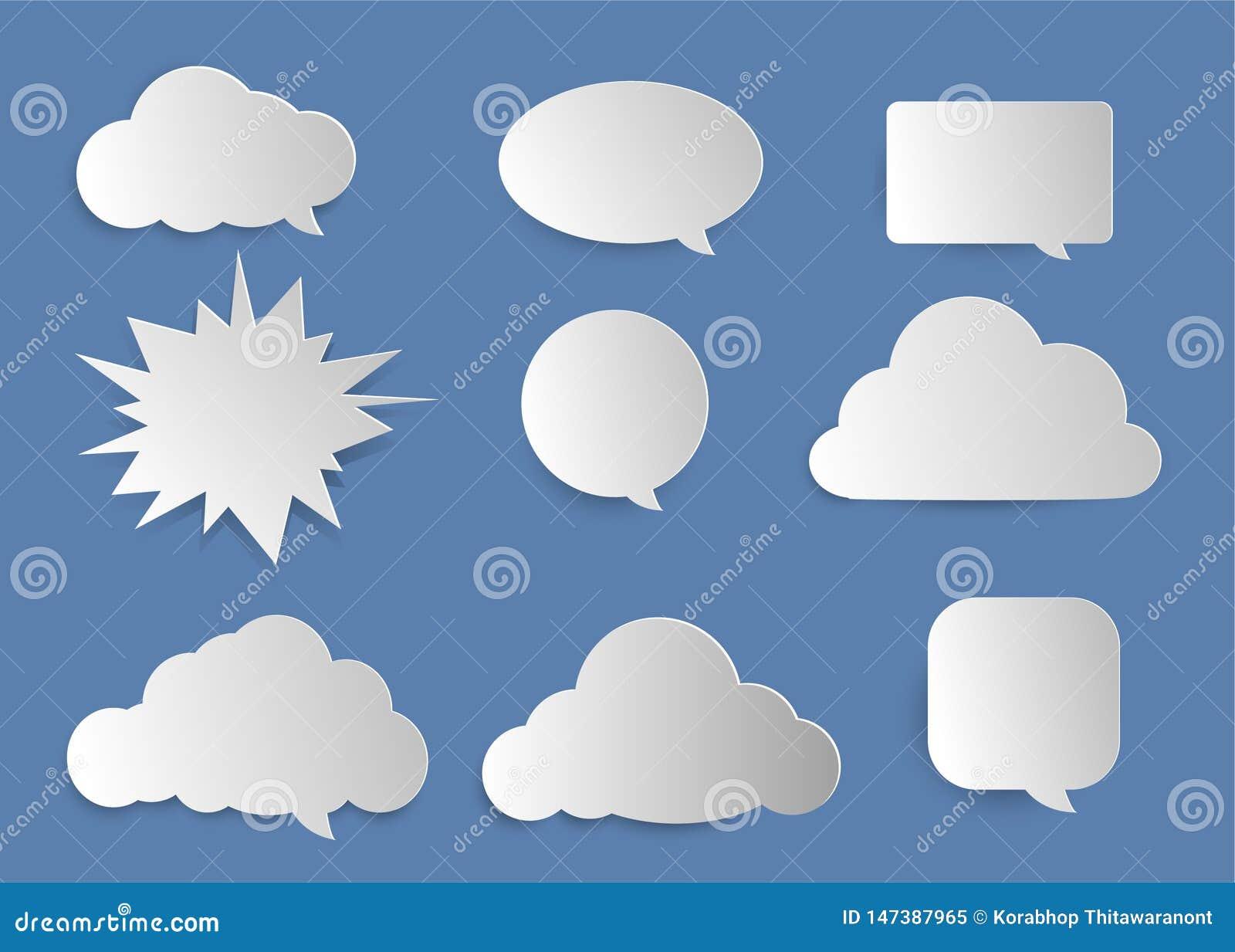Moln bubblor för skrivande in text