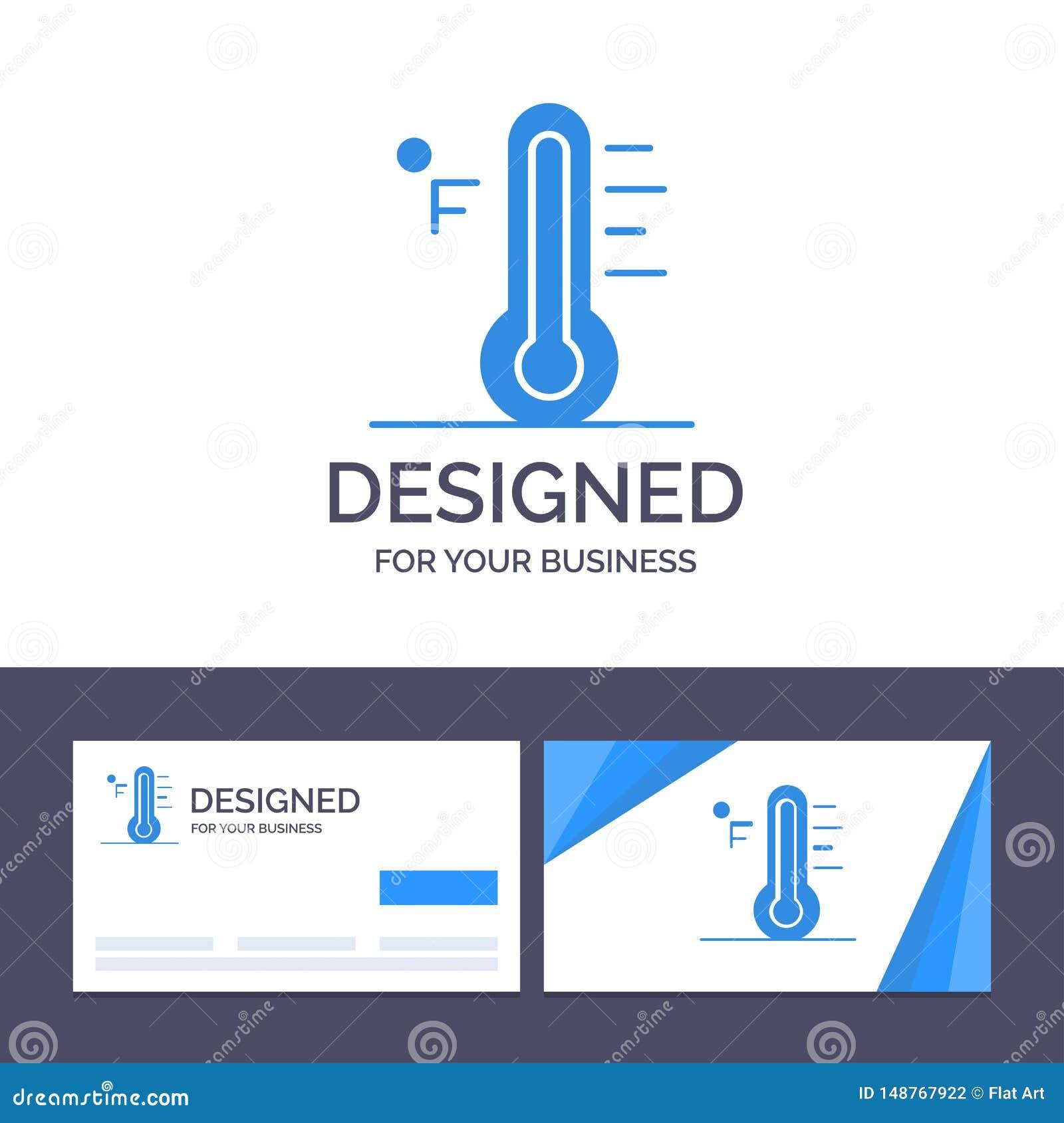 Moln för idérik mall för affärskort och logo, ljust som är regnigt, sol, temperaturvektorillustration