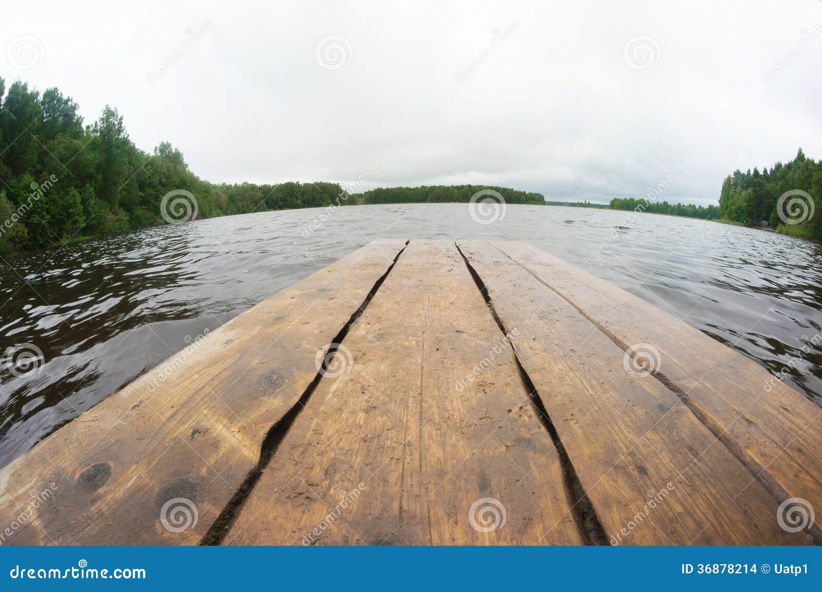 Download Molo di legno fotografia stock. Immagine di paesaggio - 36878214