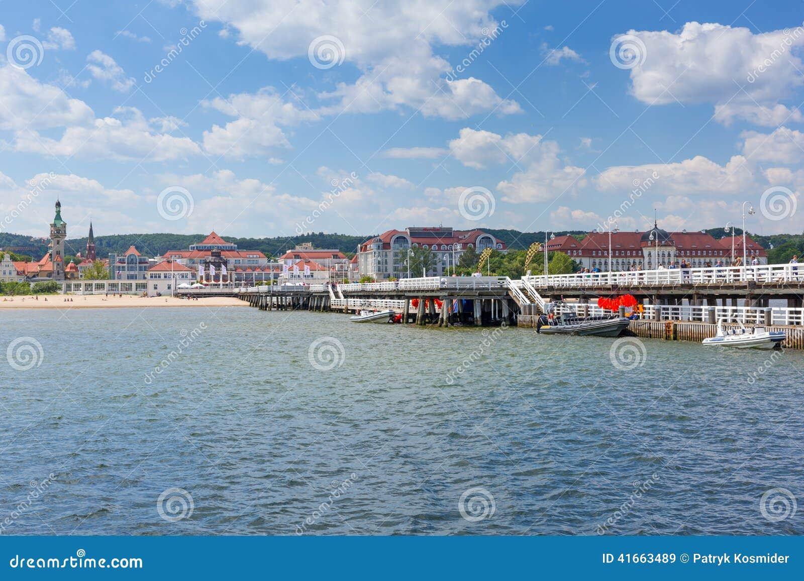 Molo Sopot на Балтийском море, Польше