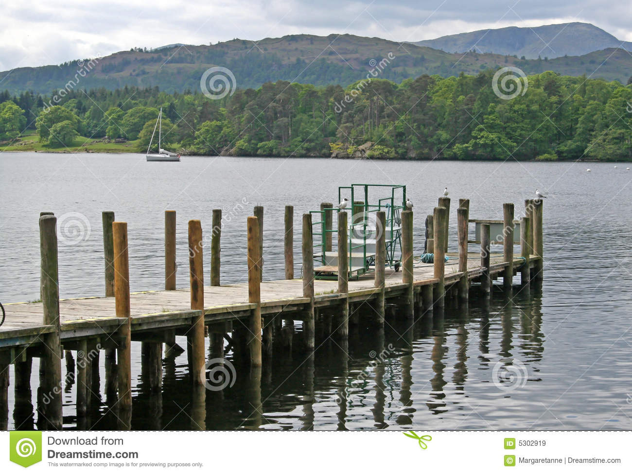 Download Molo in Windermere immagine stock. Immagine di inglese - 5302919