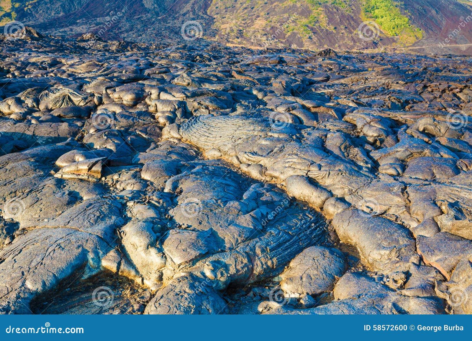 ... lava landscape in Hawaii Volcanoes National Park, Big Island, Hawaii