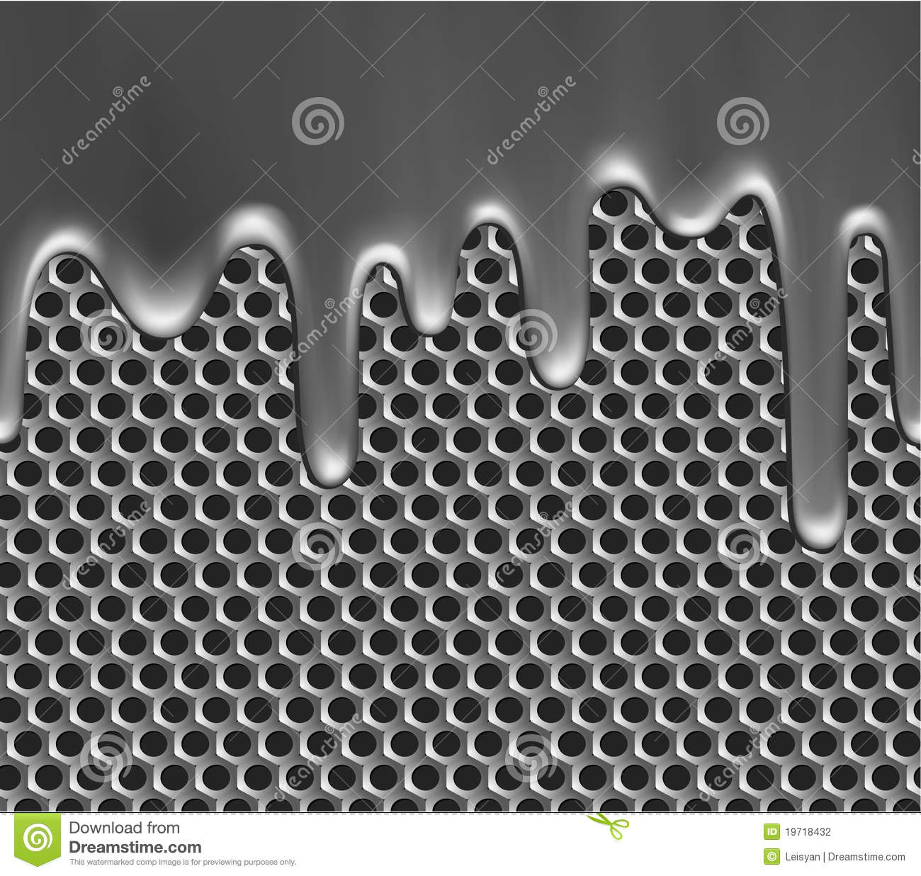 Molten Metal On Grille Texture Stock Vector Image 19718432