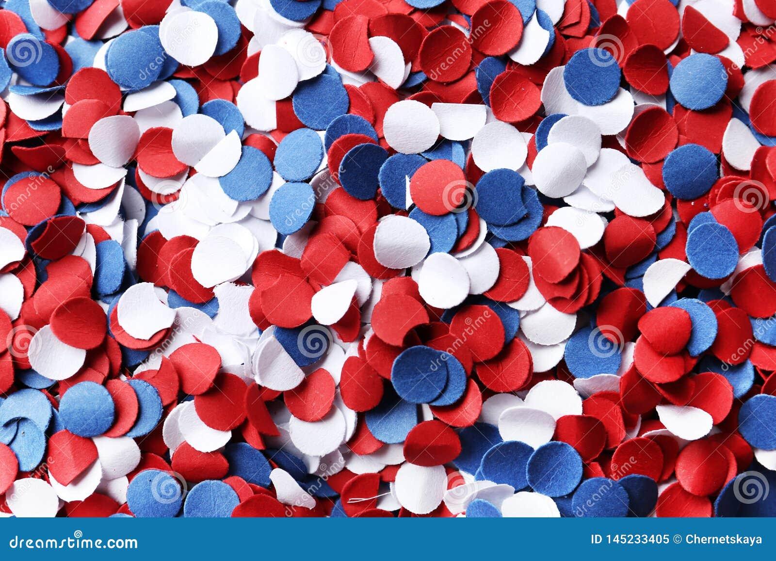 Molti coriandoli luminosi come fondo Festa dell indipendenza di U