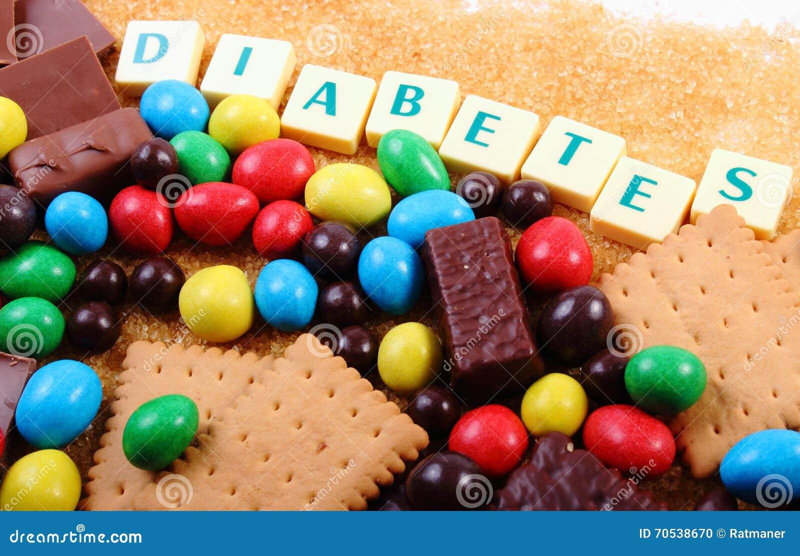 Spuntini Sani E Diabete : Molti dolci zucchero bruno e diabete di parola alimento non sano