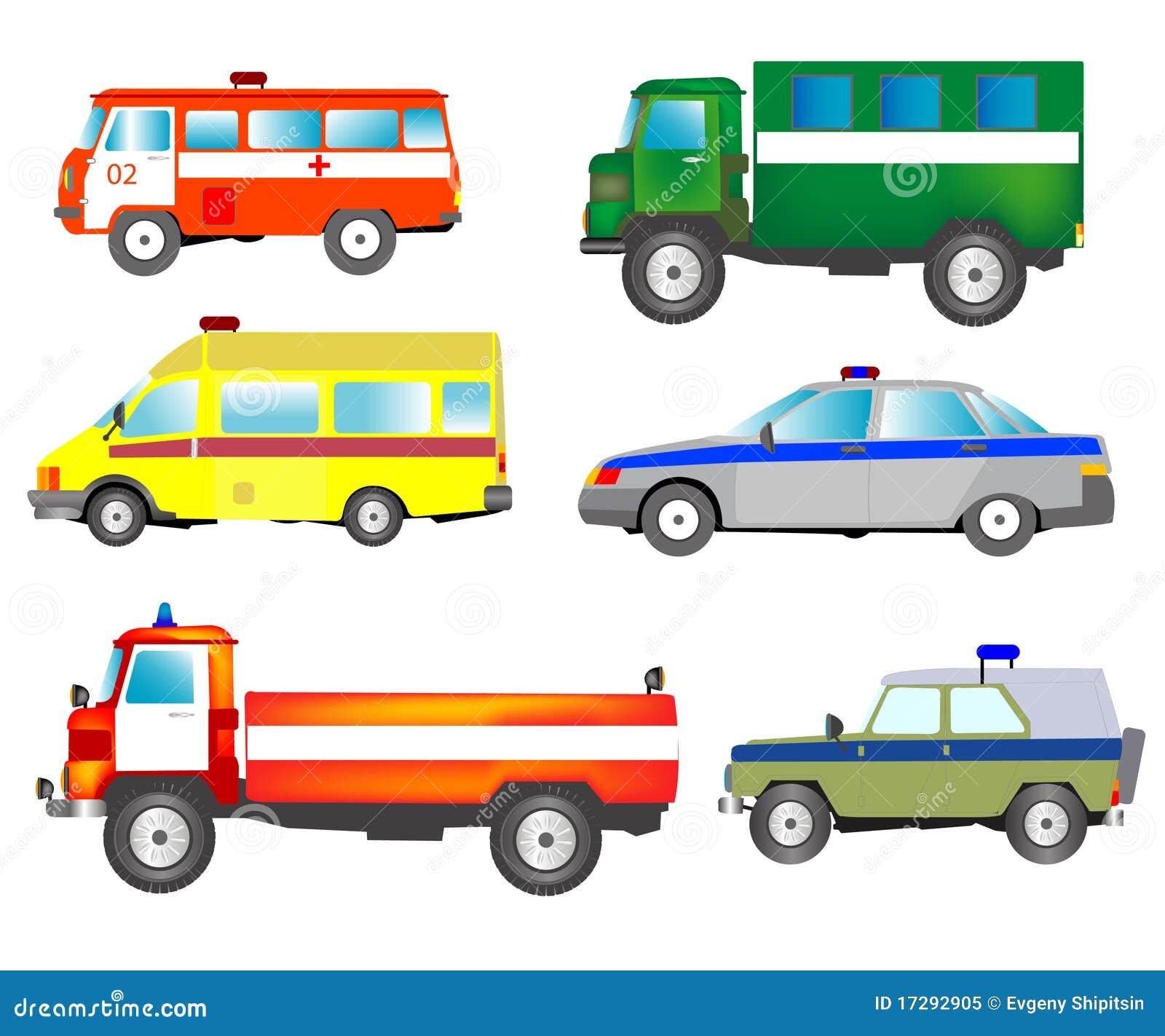 Molto automobili dei servizi speciali