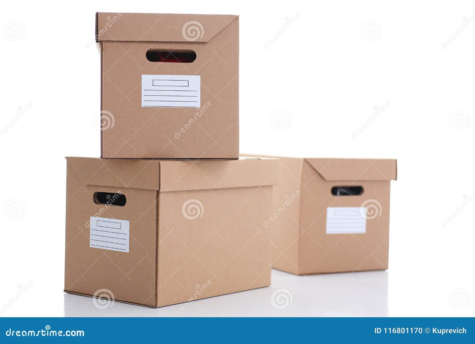Molto contenitore di cartone di colore di Kraft