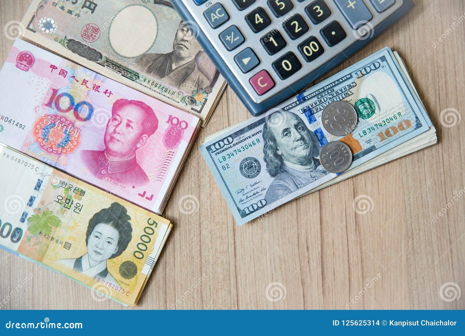 Molto Valuta Della Banconota Yen Giappone Euro Ue Yuan