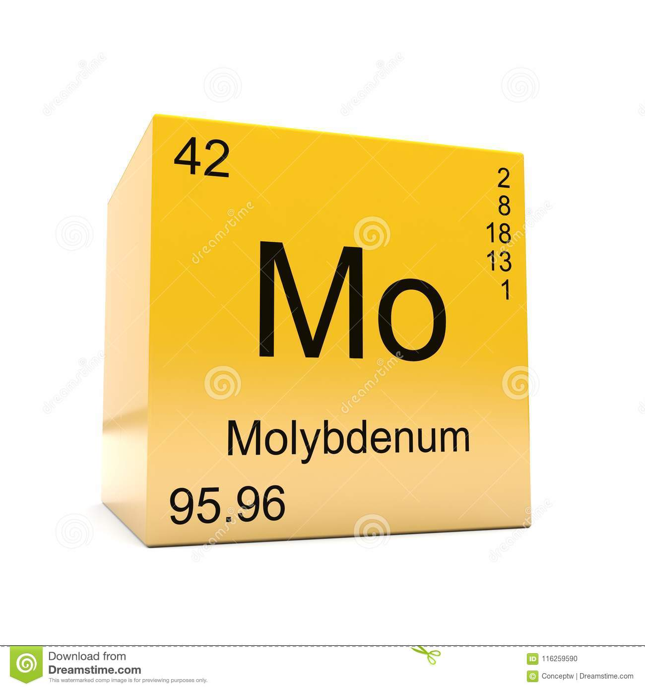 Molybdenum Chemical Element Symbol From Periodic Table Stock
