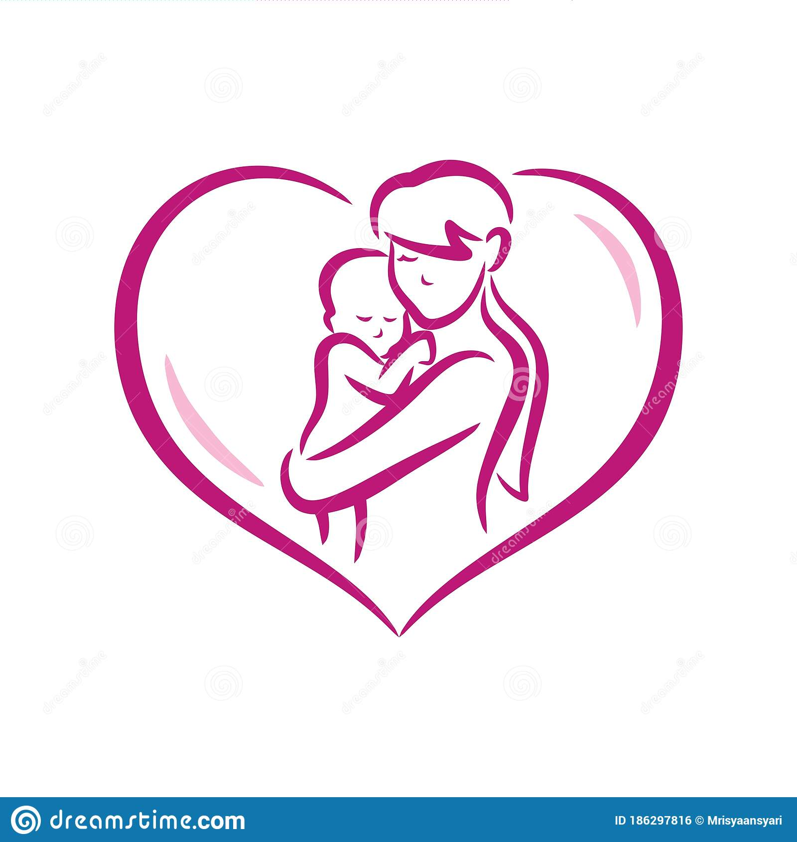 Mom And Baby Care Icon Stock Vector Illustration Of Leisure 186297816