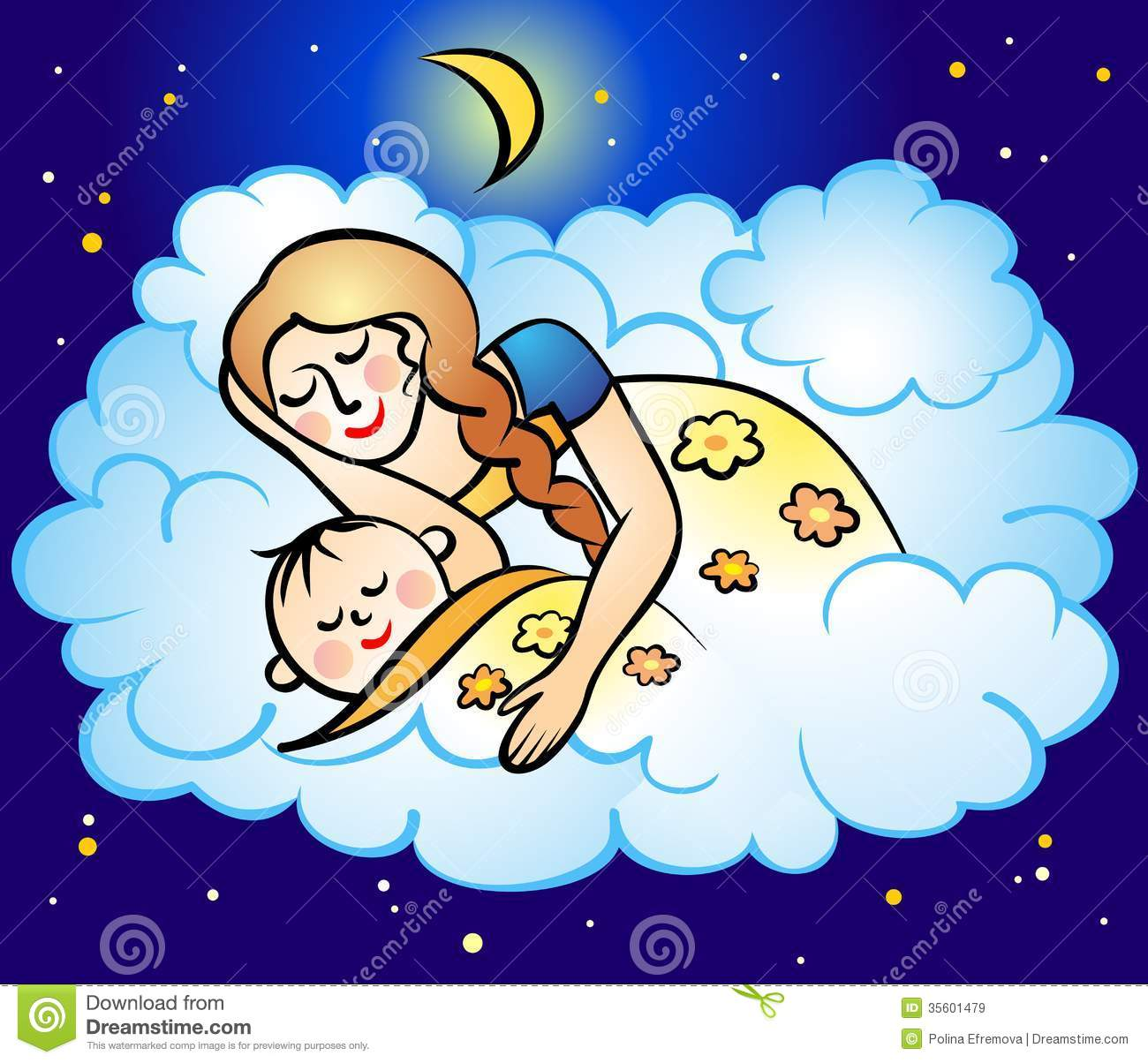 Mom and baby stock vector. Illustration of silence, love ...