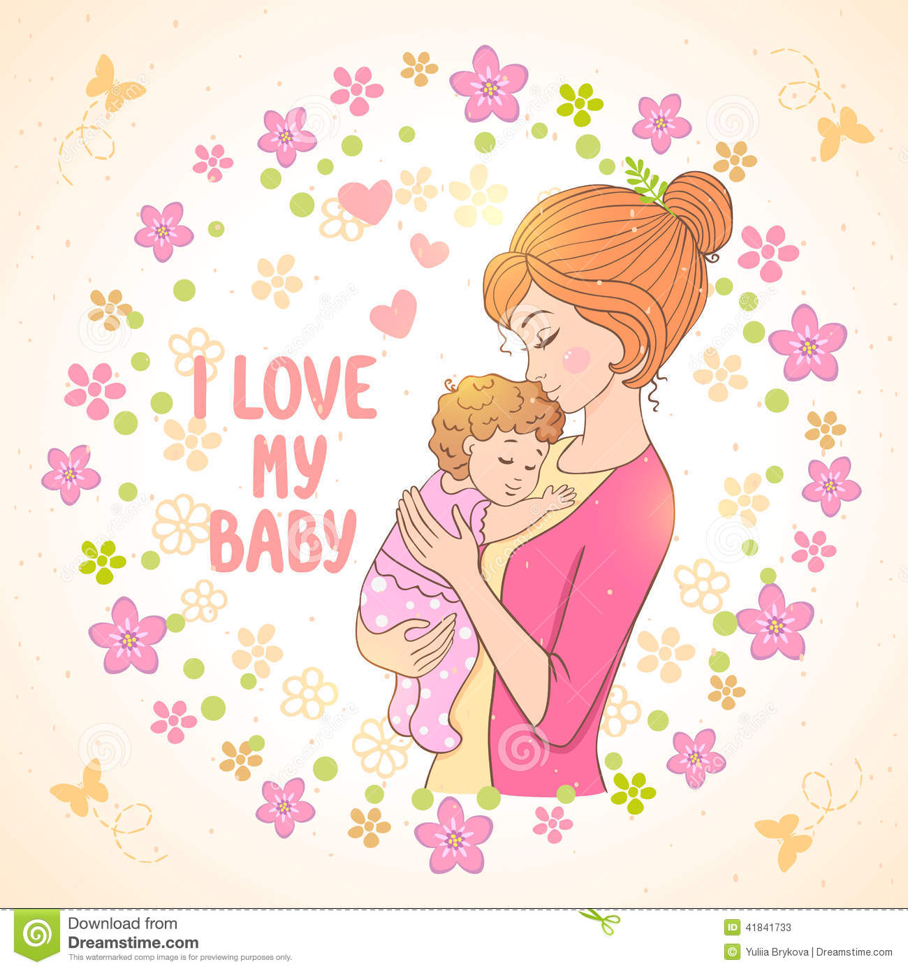 Mom And Baby Stock Vector Illustration Of Child Female 41841733
