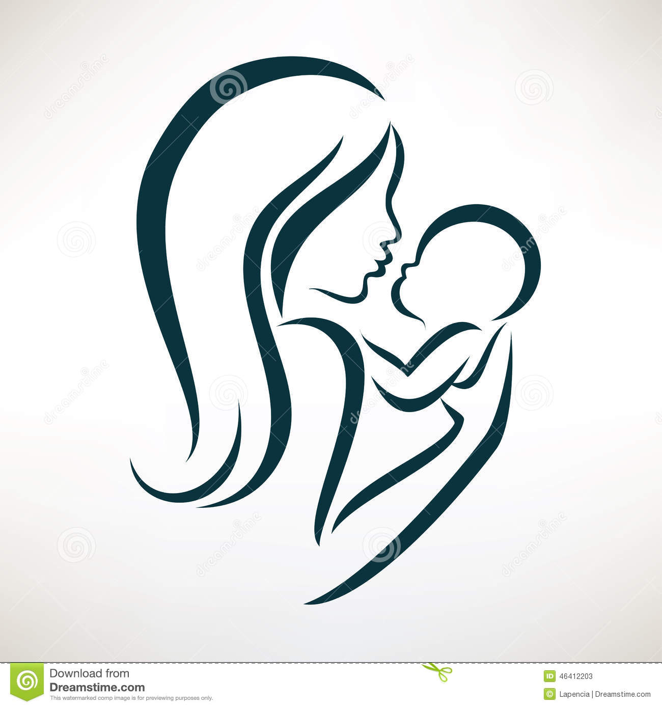 Mom And Baby Clipart | Chadholtz
