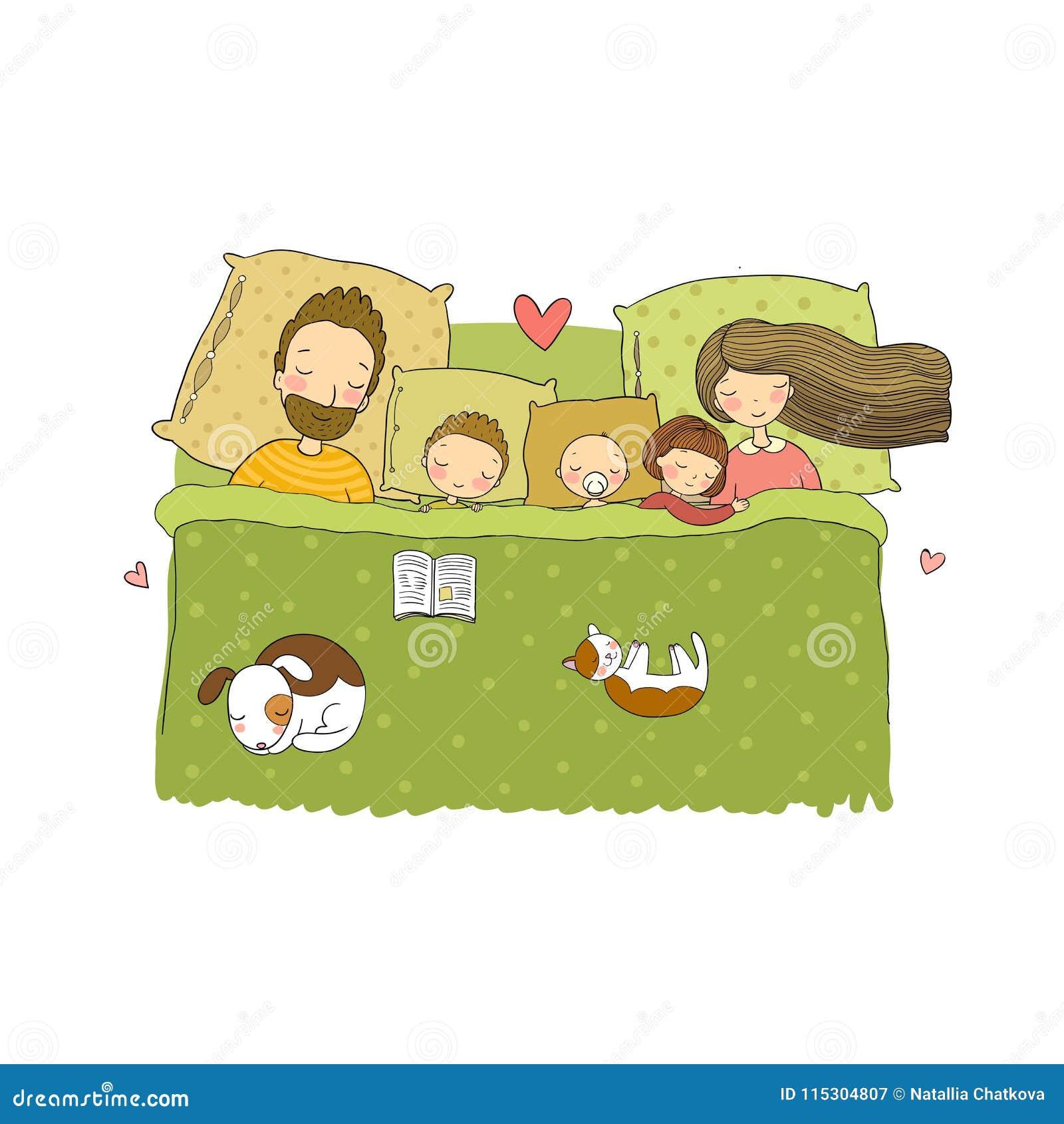 671e0ea8ad Sleeping Family. Mom