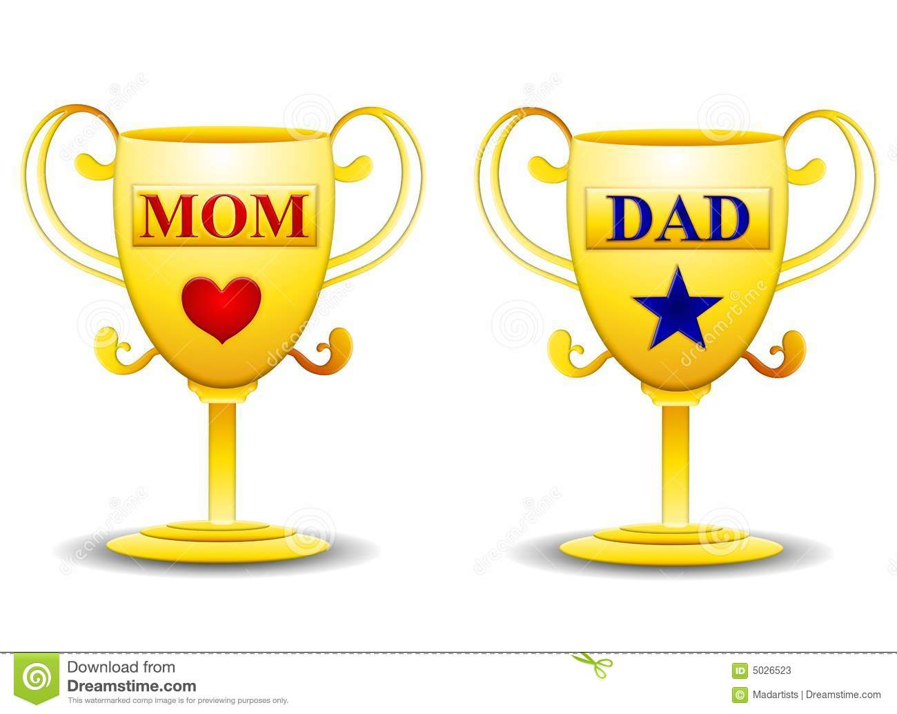 mom and dad gold trophies stock photos image 5026523. Black Bedroom Furniture Sets. Home Design Ideas