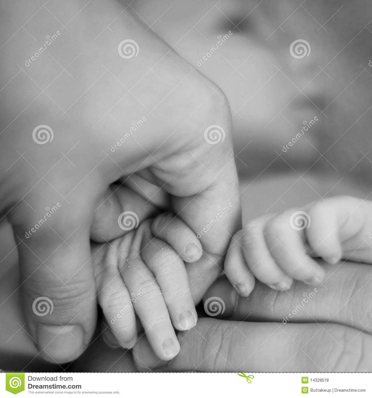 Mom And Dad Holding Newborn Hands Royalty Free Stock ...